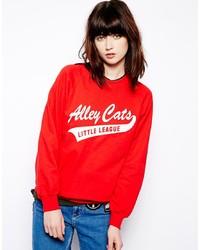 Pop Boutique Sweatshirt With Little League Print