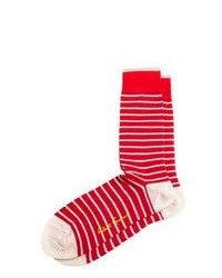 Red and White Socks