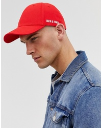 Jack & Jones Baseball Cap In 100% Cotton With Side Logo