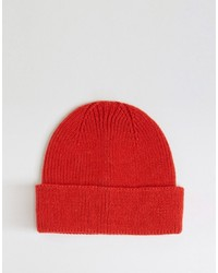 Fisherman beanie in red medium 808581