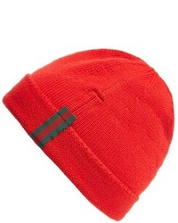 Wool beanie red medium 950994