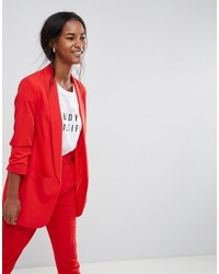 Asos Mix Match Blazer With Rouched Sleeve