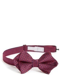 Nordstrom Holiday Houndstooth Silk Bow Tie