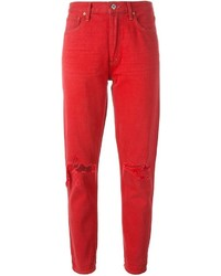 Red Boyfriend Jeans