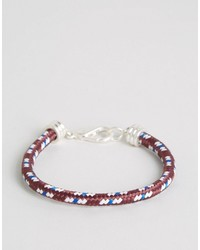 Jack Wills Bracken Rope Bracelet In Red