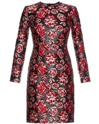 Rose brocade long sleeved dress medium 319702