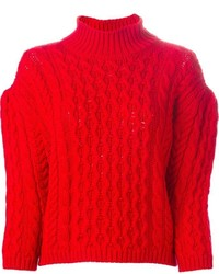 Chunky cable knit sweater medium 379494