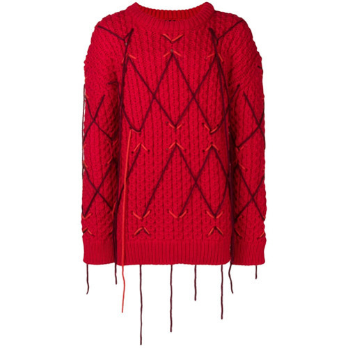 8e8facde5d7 £1,167, Calvin Klein 205W39nyc Distressed Chunky Knit Jumper