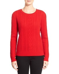 Nordstrom collection zip shoulder cable wool cashmere sweater medium 379483