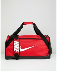 Nike Red Swoosh Logo Duffle Bag
