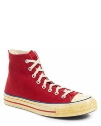 Red Canvas High Top Sneakers