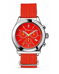 Red Canvas Watch