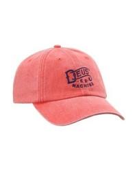 Weathered baseball cap washed red medium 4162594