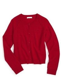 Burberry Girls Gema Cashmere Cardigan Size 4y Red