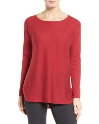Eileen Fisher Ballet Neck Cashmere Tunic Sweater