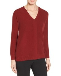 Nordstrom Collection V Neck Cashmere Pullover