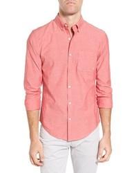 Red Chambray Long Sleeve Shirt