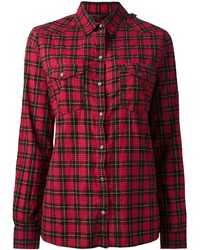 Red Check Dress Shirt