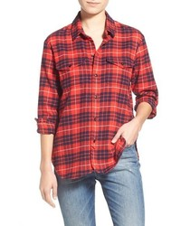 Cotton flannel work shirt medium 396618