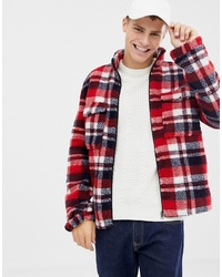 Brave Soul Fleece Check Lined Jacket