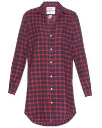 Frank eileen mary checked flannel shirtdress medium 436781