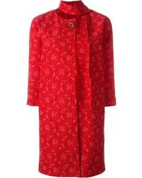 Ermanno Scervino Brooch Lace Coat