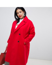 Vero Moda Curve Double Breasted Overcoat