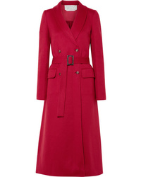 Gabriela Hearst Joaquin Double Breasted Pleated Cashmere Coat