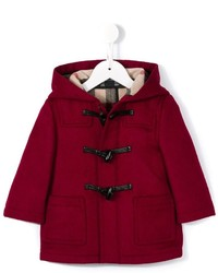 Burberry Kids Check Lined Duffle Coat