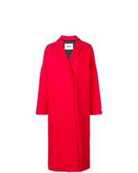 MSGM Long Printed Rose Coat