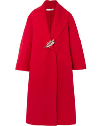 Oscar de la Renta Oversized Wool And Cashmere Blend Coat