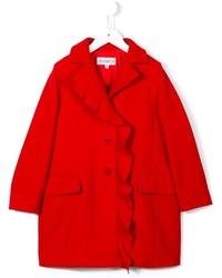 Simonetta Ruffled Trim Coat