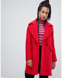 Esprit Textured Coat In Red