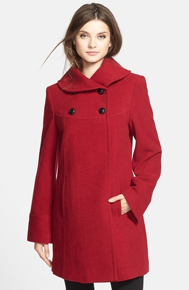 Larry Levine Wool Blend Babydoll Coat | Where to buy & how to wear