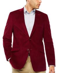 Red Corduroy Blazer