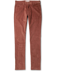 Regular fit cotton and cashmere blend corduroy trousers medium 328704