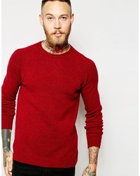 Asos Brand Lambswool Rich Crew Neck Sweater