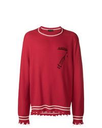 Riccardo Comi Frayed Hem Sweater