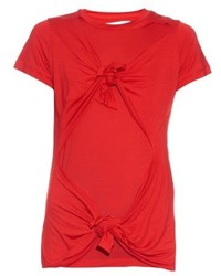 MARQUES ALMEIDA Marquesalmeida Slashed Knotted Short Sleeved T Shirt