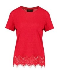 The Kooples Sport Print T Shirt Red