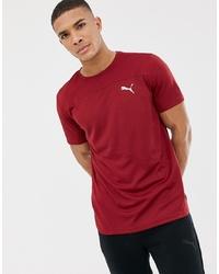 Puma Running Mono T Shirt In Burgundy 517242 08