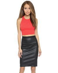 Alice + Olivia Blythe Angular Fitted Crop Top
