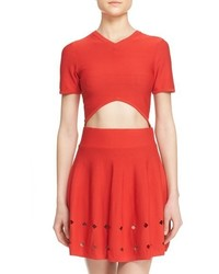 Opening Ceremony Corey Knit V Neck Crop Top