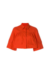 MSGM Cropped Boxy Shirt