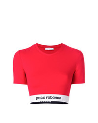 Paco Rabanne Cropped Elasticated Hem T Shirt