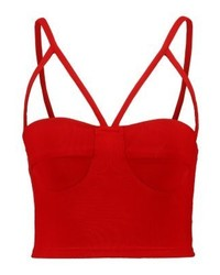 Go strap detail crop vest red medium 4238844