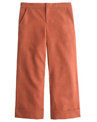 J.Crew Collection Cropped Cotton Linen Trouser