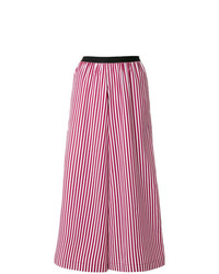 Antonio Marras Striped Cropped Palazzo Trousers