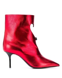 MSGM Heart Cut Out Metallic Boots