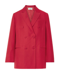 Valentino Oversized Silk And Wool Blend Crepe Blazer
